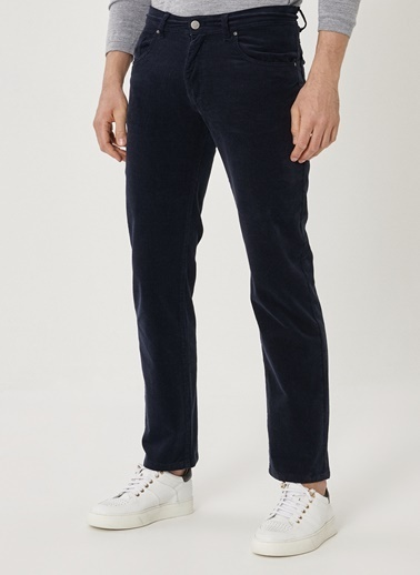Beymen Business Regular Fit Kadife Pantolon 4B0119100041 Lacivert